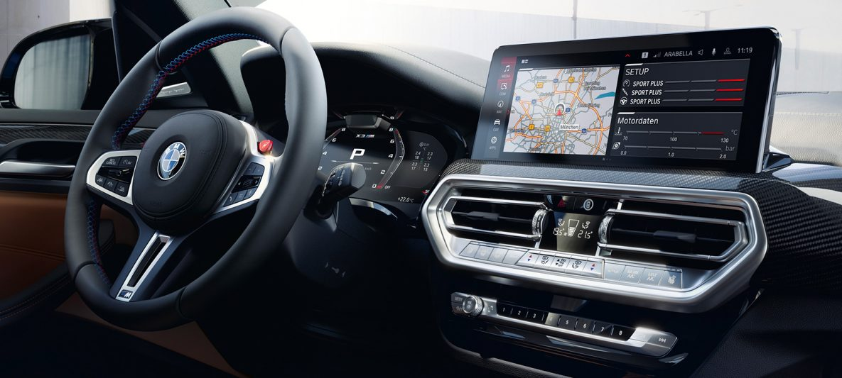 BMW X3 M Competition F97 LCI Facelift 2021 Cockpit Control Display