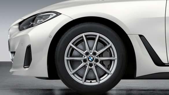 """18"""" BMW Gussrad Doppelspeiche 853 Gunmetal Grey BMW i4 M50 G26 2021"""